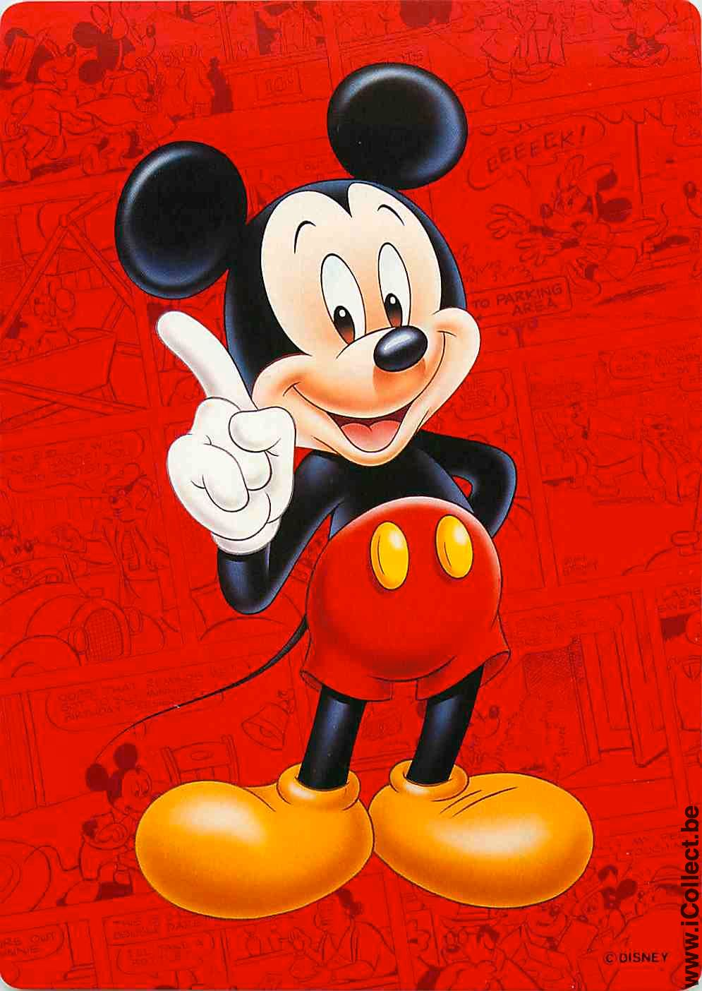 Single Playing Cards Mickey Mouse ***Jumbo Card*** (PS98-25A) [PS ...